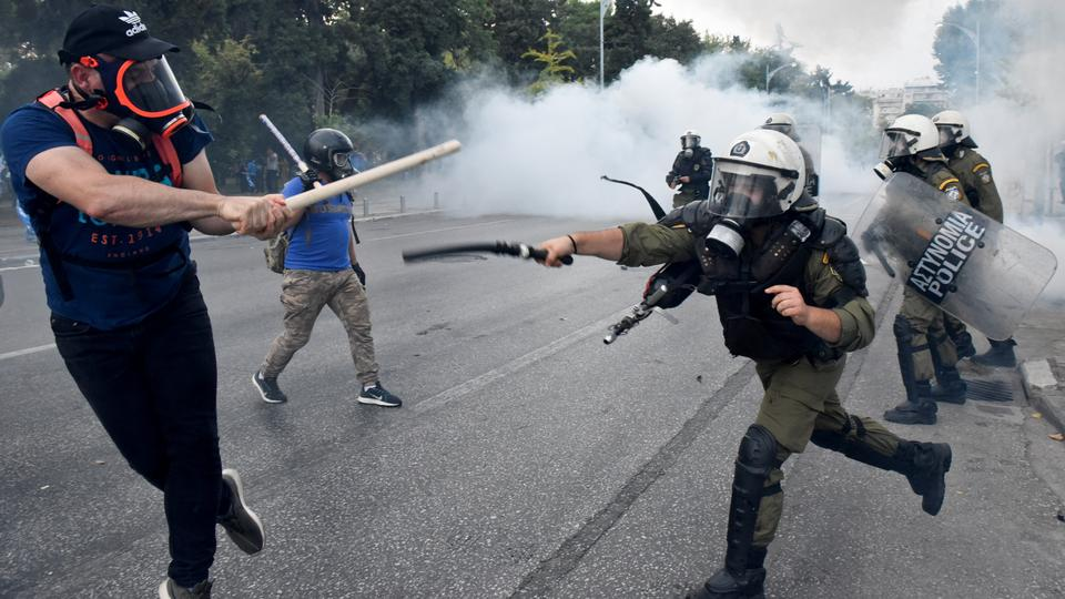 Protesters Clash With Greek Police Over Macedonia Name Agreement