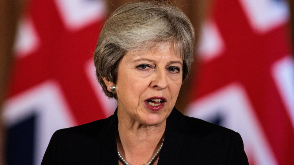 Britain's Prime Minister Theresa May makes a statement on Brexit negotiations with the European Union at Number 10 Downing Street, London, September 21, 2018 .