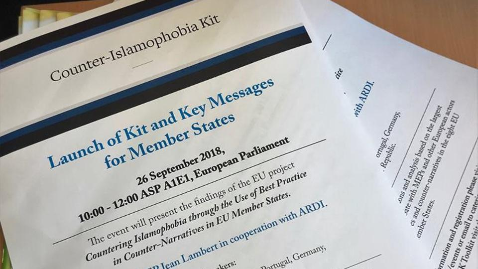 A new toolkit to counter Islamophobia was launched in the European Parliament, September 26, 2018. (@GreenJeanMEP)