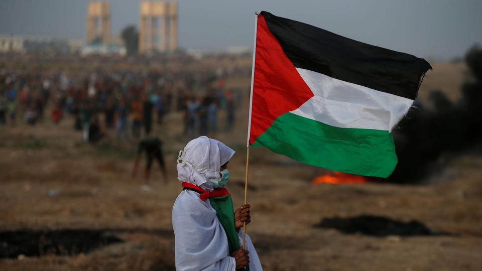 Palestinians have been protesting along the border since March 30, demanding an end to Israel's blockade of the territory and the right to return to lands that Palestinians fled or were driven from when Israel was founded in 1948. Picture from October 19, 2018.