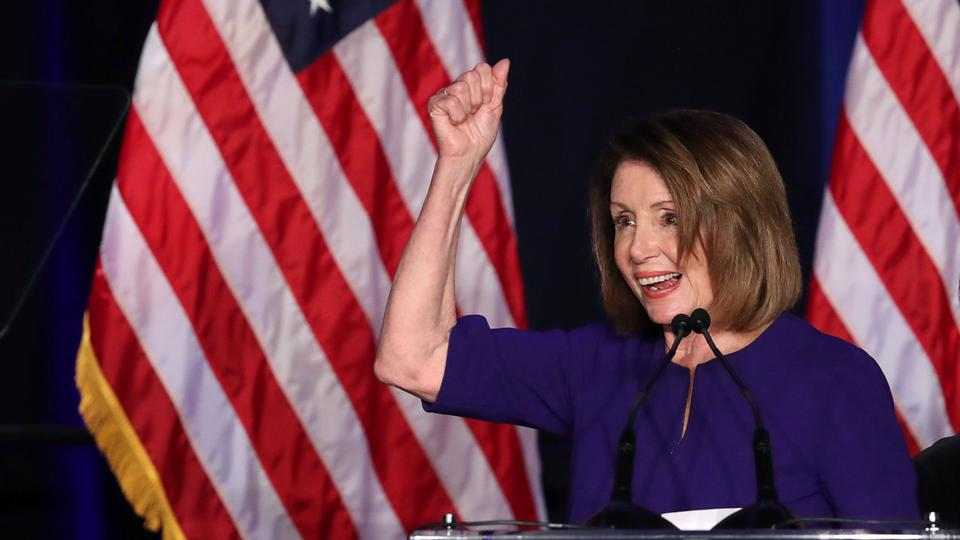 Pelosi takes centre stage as Democrats win control of US House