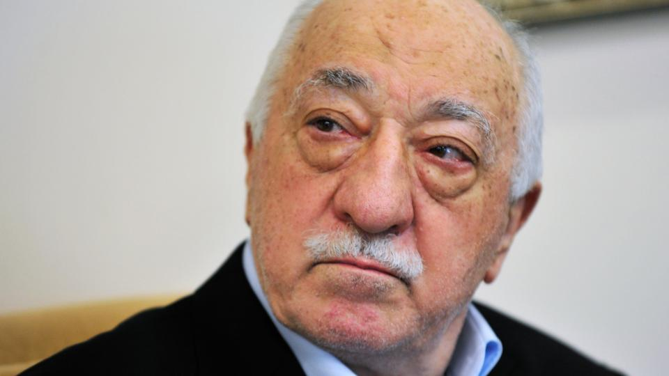 In this July, 2016 file photo, FETO leader Fetullah Gulen speaks to members of the media at his compound, in Saylorsburg, Pennsylvania Turkey says the US is legally bound by a treaty to immediately hand over Fetullah Gulen.