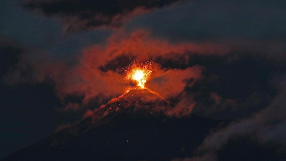 The volcano of fire is located among the departments of Escuintla, Chimaltenango and Sacatepéquez in the south-central part of the country. (November 18, 2018)