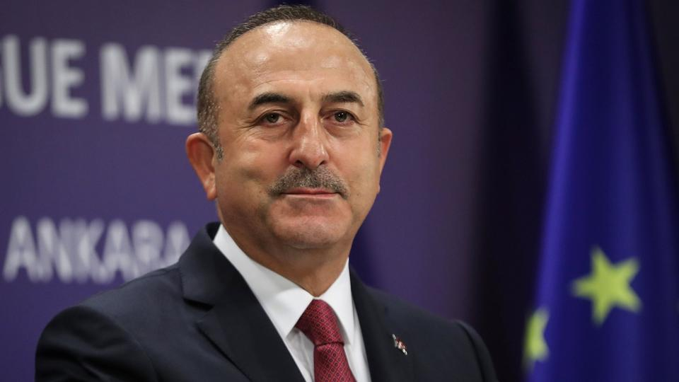 Turkey's Foreign Minister Mevlut Cavusoglu attends a news conference in Ankara, Turkey November 22, 2018.