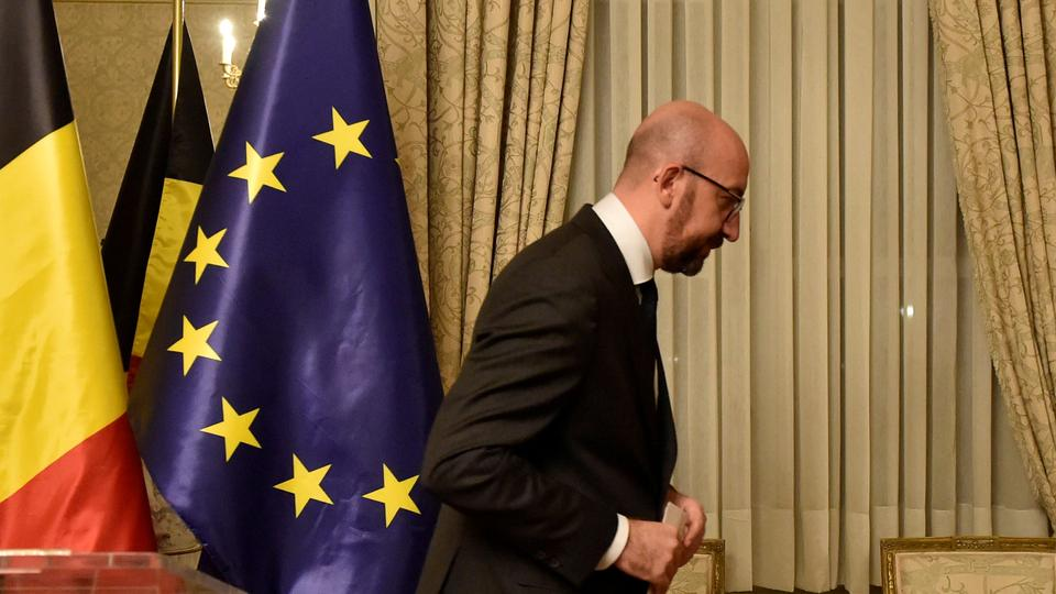 File photo of Belgium's Prime Minister Charles Michel leaves after a news conference in Brussels, Belgium December 8, 2018.