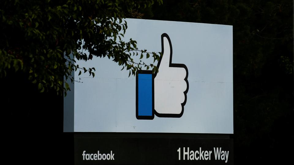 The entrance sign to Facebook headquarters is seen in Menlo Park, California, on Wednesday, October 10, 2018.