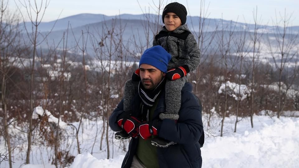 Migrants attempt to illegally cross the border into Croatia on the Pljesevica Mountain near Bihac, Bosnia and Herzegovina December 19, 2018.