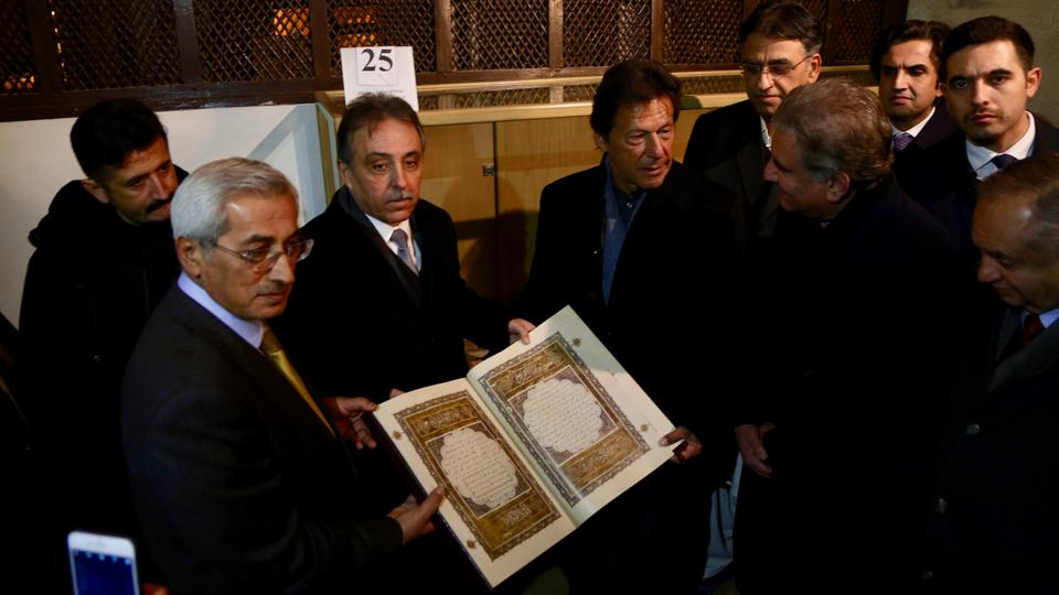 Pakistani Prime Minister Imran Khan visits Mevlana Museum in central Konya province of Turkey on January 03, 2019.