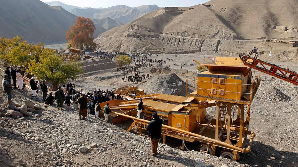 File photo: Work under way at a gold mine in Nor Aaba, Takhar province, Afghanistan.
