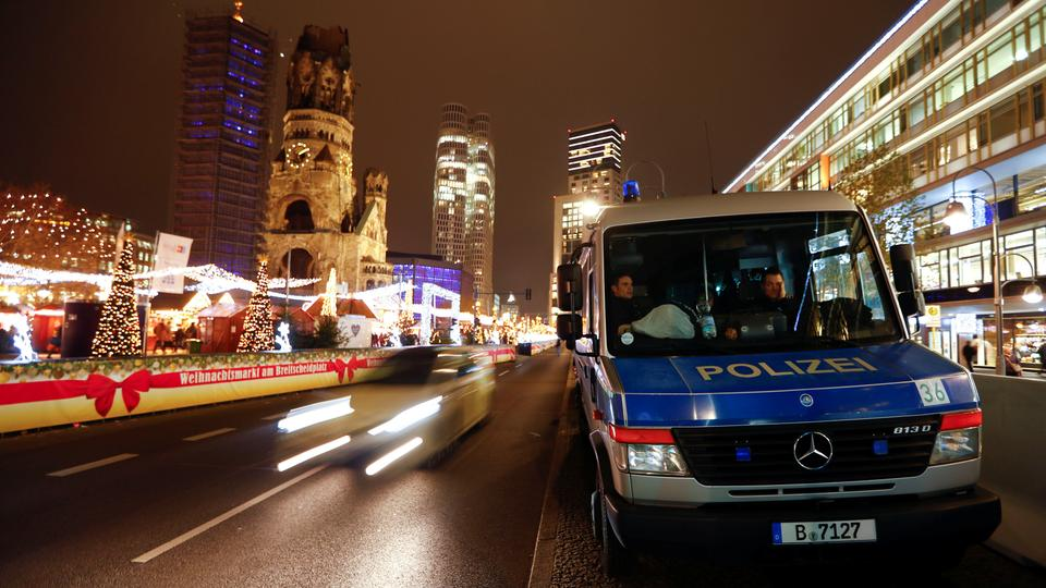 A police car in Berlin, Germany, December 17, 2018.