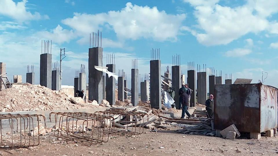 With the help of the Turkish-backed FSA, Syrians are are rebuilding devastated areas in Qabasin, Syria.