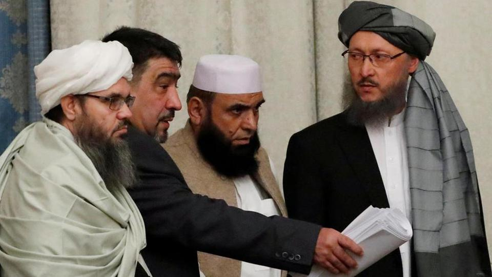 Members of a Taliban delegation attended similar peace talks in Moscow in November, 2018.