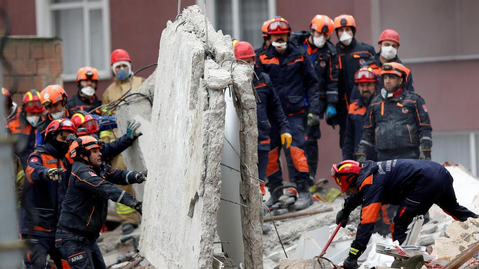 The collapsed building had 14 apartments with 43 people registered as residents. February 7, 2019.