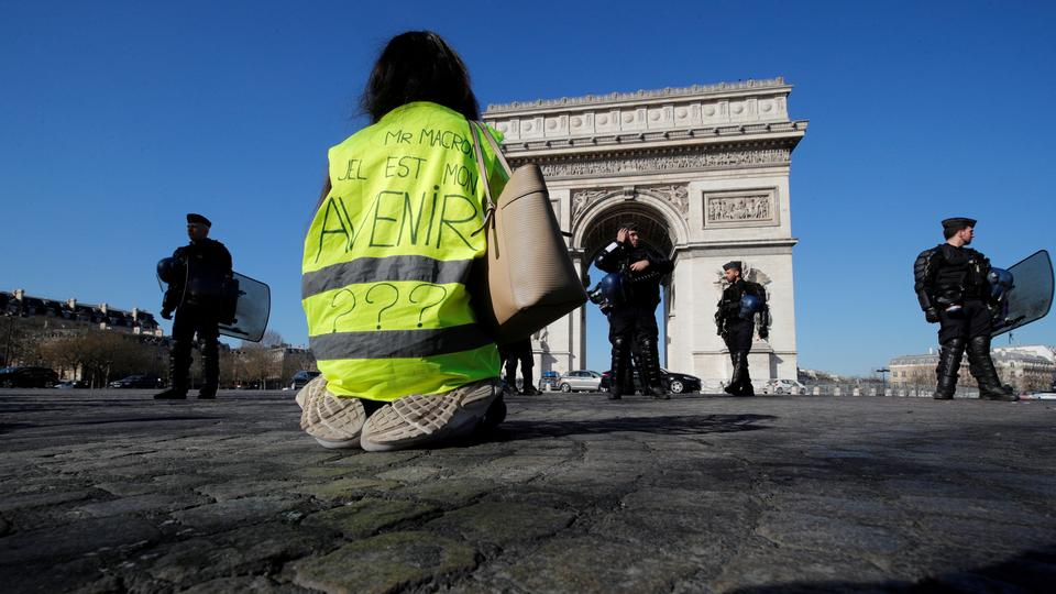 IMF has lowered its expectations for France's growth in 2019 to 1.5 percent due to the Yellow Vest demonstrations.