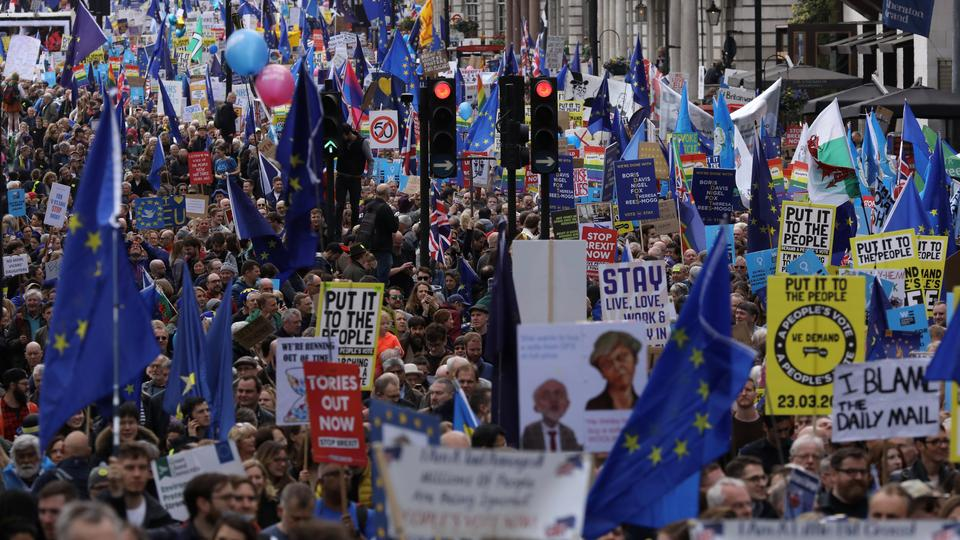 Massive 'People's Vote' rally in London for new Brexit referendum
