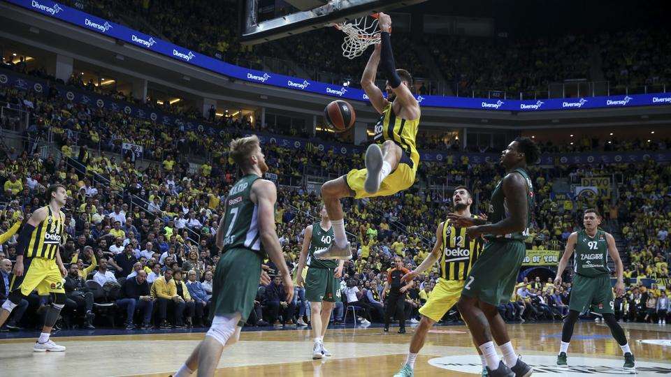 a8c5b5cba Marko Guduric (C) of Fenerbahce Beko in action during Turkish Airlines  Euroleague play-
