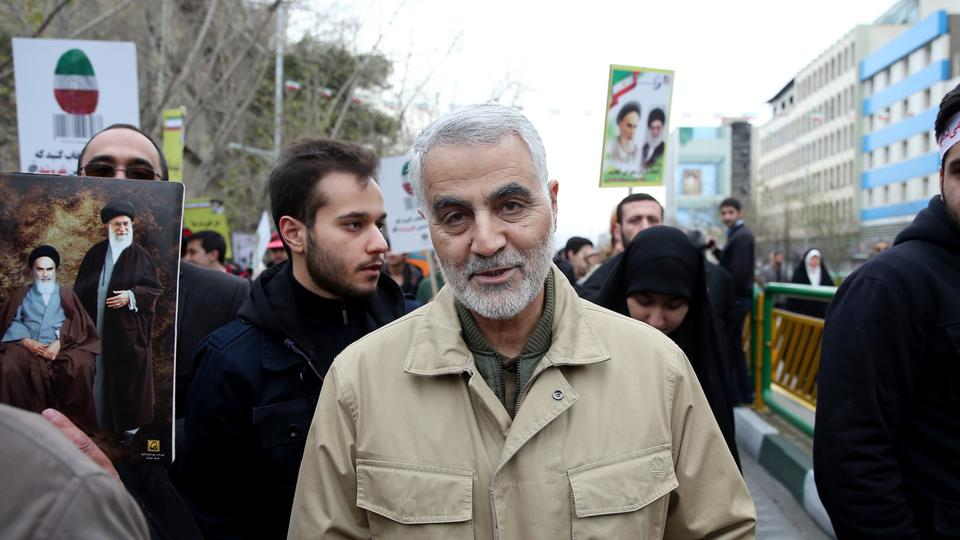 Commander of Iran's Quds Force, Qassem Soleimani attends an annual rally commemorating the anniversary of the 1979 Islamic revolution, in Tehran, Iran, Thursday, Feb. 11, 2016.