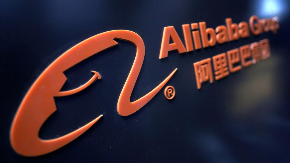 File Photo A Logo Of Alibaba Group Is Seen At An Exhibition During The World