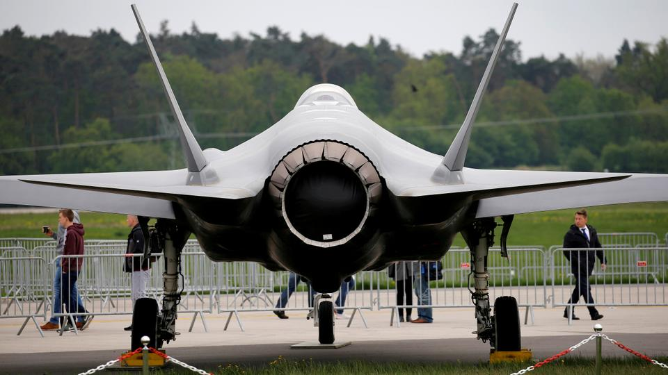 A Lockheed Martin F-35 aircraft is seen at the ILA Air Show in Berlin, Germany, on April 25, 2018.