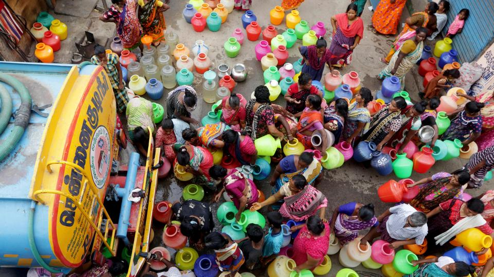 Parts of southern India facing acute water shortages