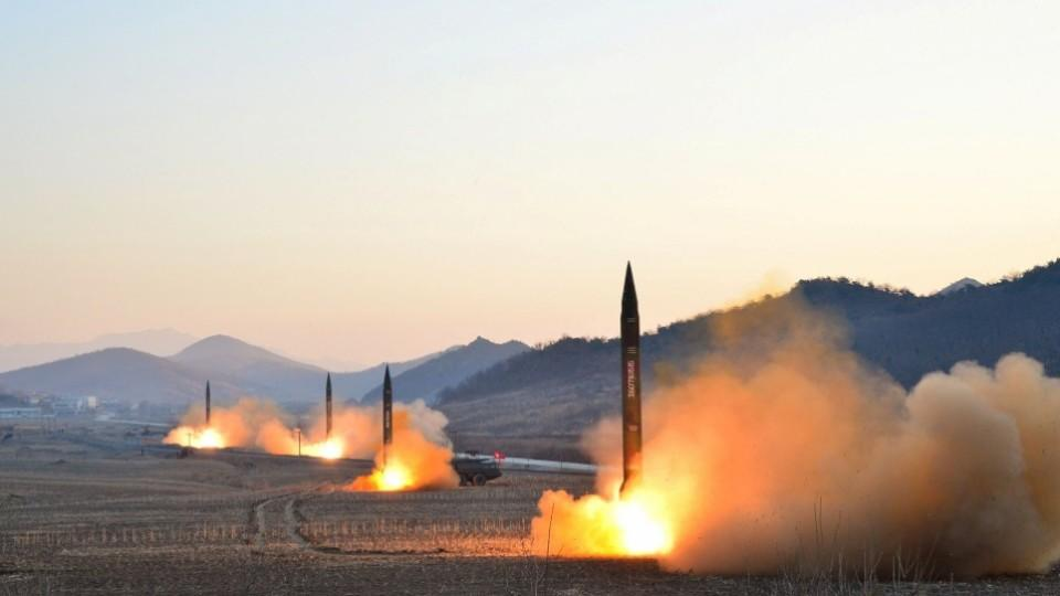 North Korean leader Kim Jong-un supervised a ballistic rocket-launching drill of Hwasong artillery units of the Strategic Force of the KPA on the spot in this undated photo released by North Korea's Korean Central News Agency (KCNA) in this file photo.