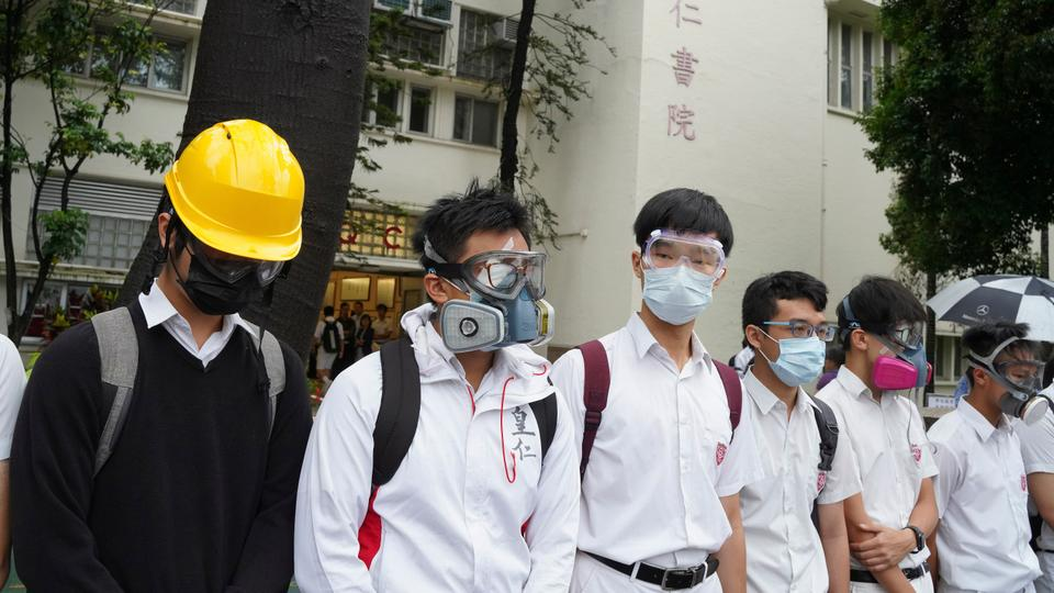 Tens of thousands in Hong Kong boycott first day of school