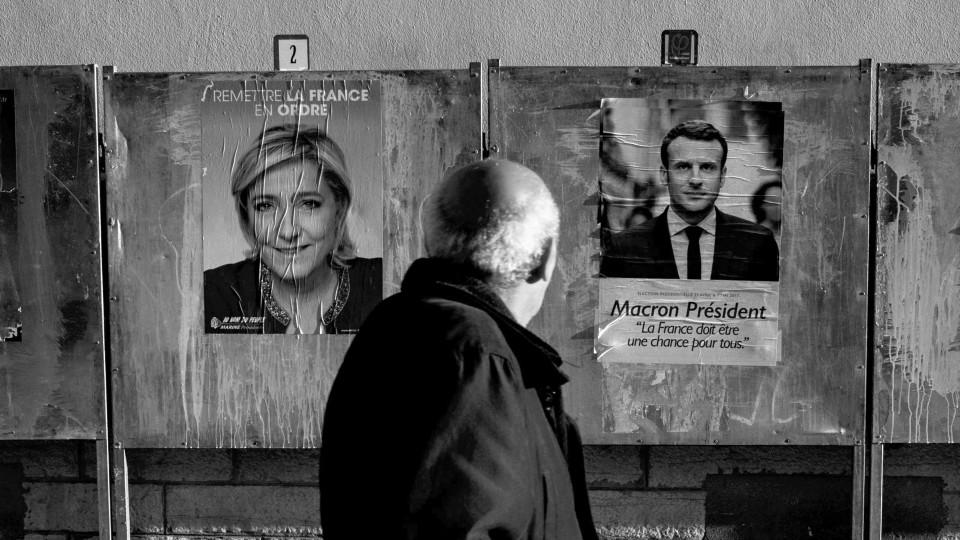 Le Pen Macron Offer Sharp Contrast In Visions For France