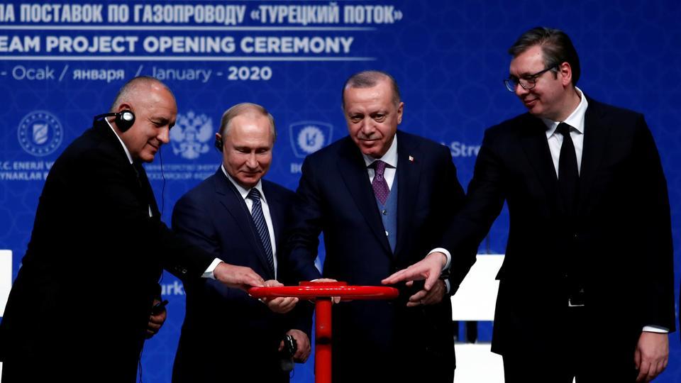 Erdogan and Putin inaugurate TurkStream pipeline