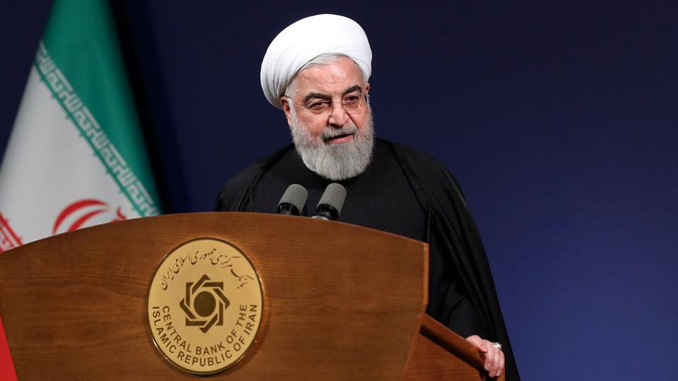 In this photo released by the official website of the office of the Iranian Presidency, President Hassan Rouhani speaks before the heads of banks in Tehran, Iran on January 16, 2020.
