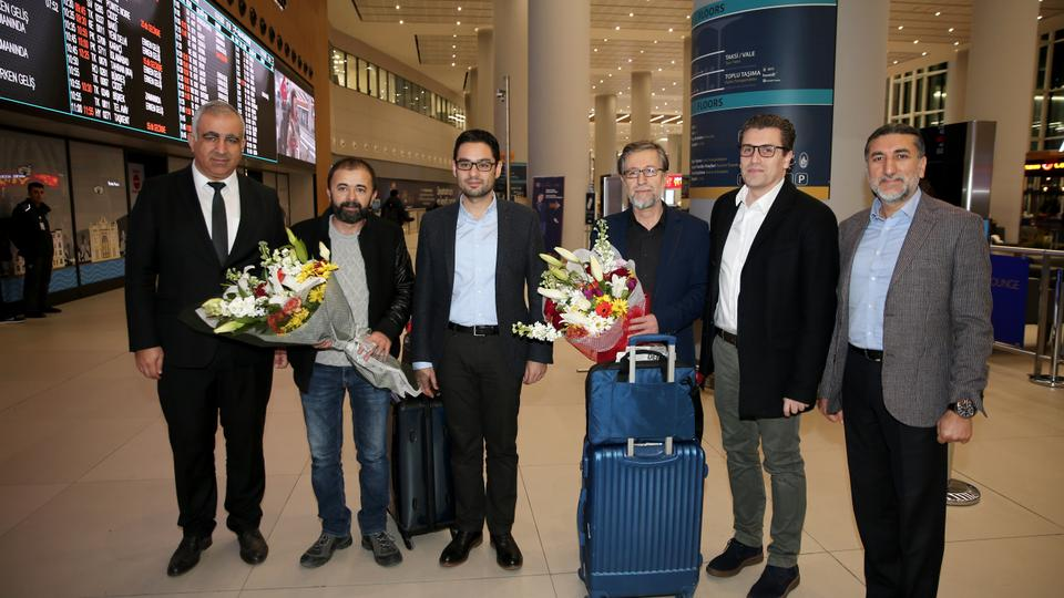 AA journalist Hilmi Balci, who was detained during the police raid in Cairo Egypt, arrives to Turkey.