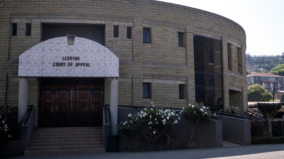 A picture taken in Maseru, Lesotho, on February 2, 2020 shows the exterior of the Lesotho's Court of Appeal.