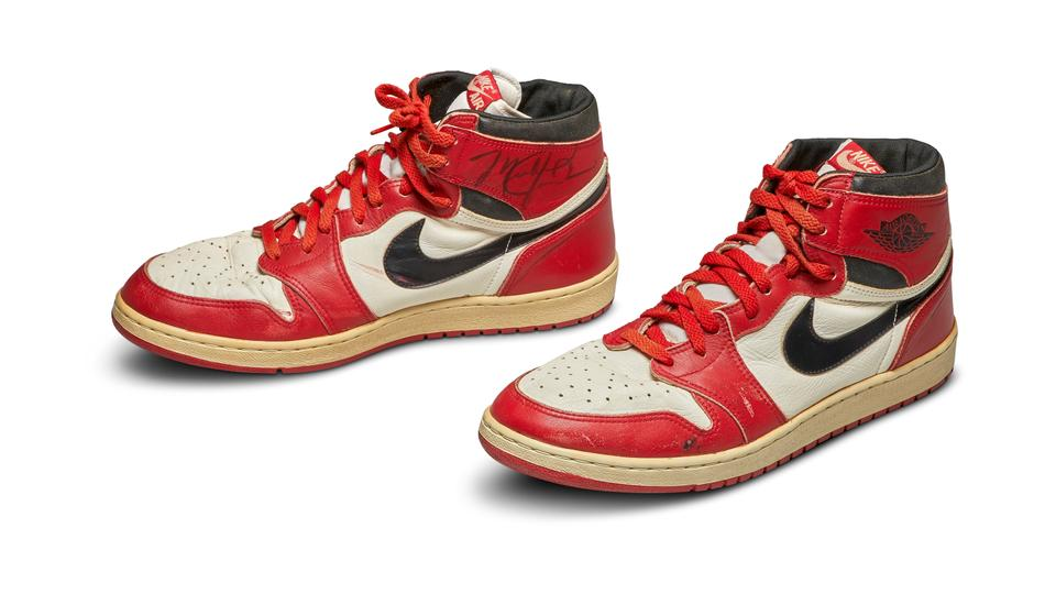 Jordan's first Air Jordan sneakers sold