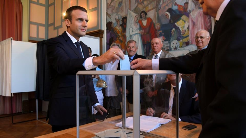 French Parliament selected Emmanuel Macron