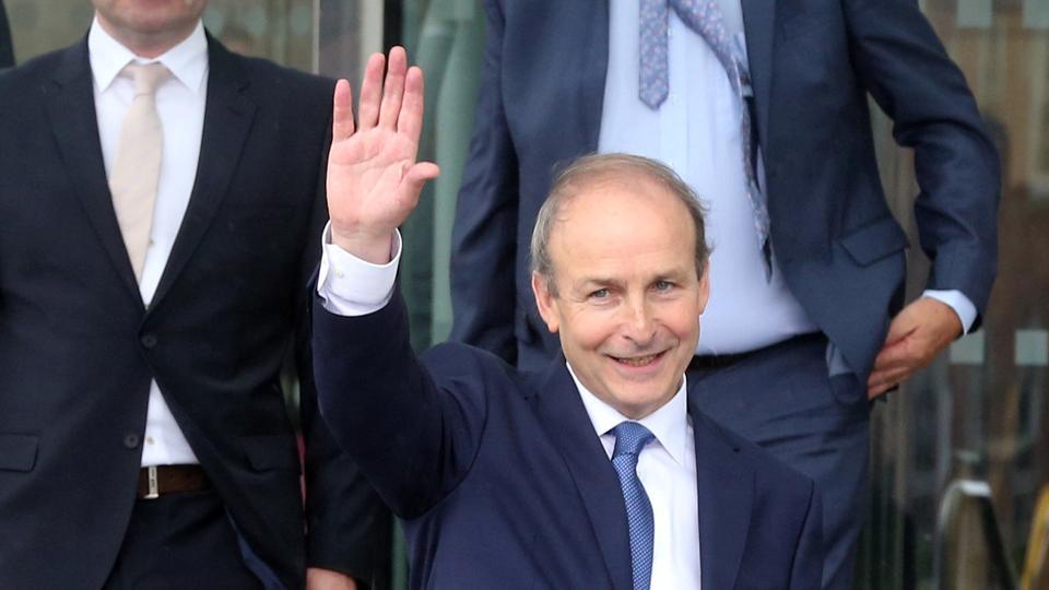 Taoiseach Micheal Martin, 27 Haziran 2020'de Dublin, İrlanda'daki Fianna Fail partisinin lideri.