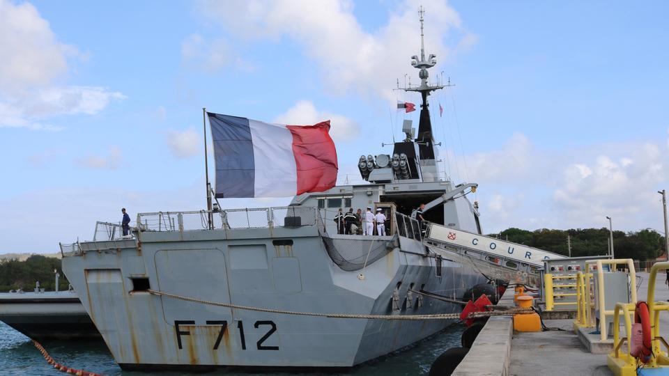 Bu 11 Mayıs 2017 dosya fotoğrafında Fransız gizli fırkateyn Courbet, Guam'ın Hagatna yakınlarındaki Deniz Üssü Guam'a yerleştirildi.