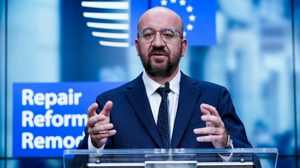 Avrupa Konseyi Başkanı Charles Michel, 10 Temmuz 2020'de Brüksel, Belçika'da.