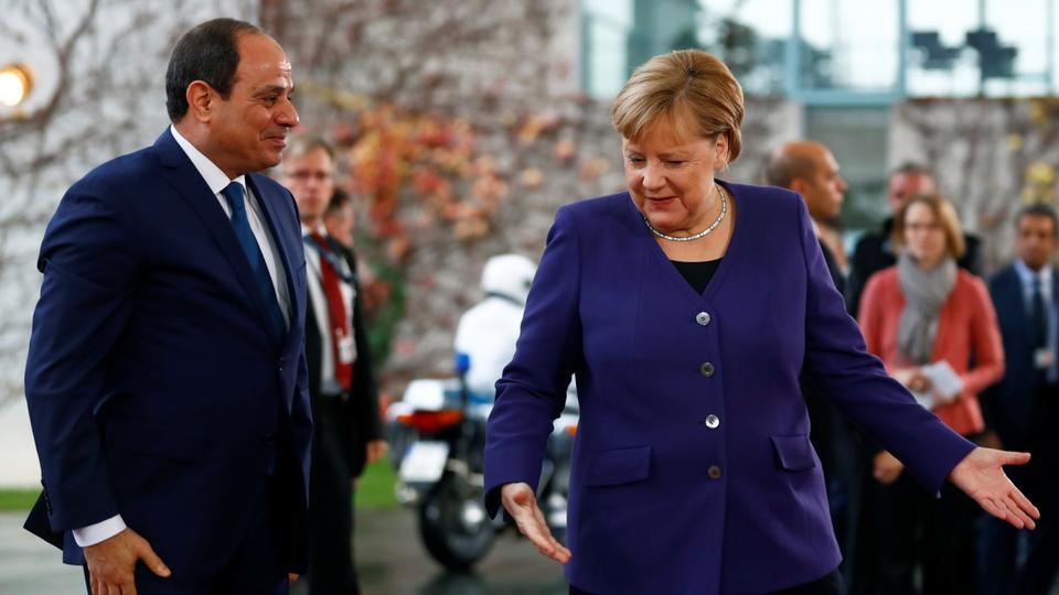 Dosya Fotoğraf: Almanya Başbakanı Angela Merkel, Mısır Cumhurbaşkanı Abdel Fattah el Sisi'nin Berlin, Almanya Başbakanlığında buluştu, 20 Kasım 2019.