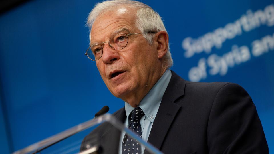 Avrupa Birliği Dış Politika Şefi Josep Borrell, 30 Haziran 2020'de Brüksel, Belçika'daki Avrupa Konseyi binasında düzenlenen bir basın toplantısında konuştu.
