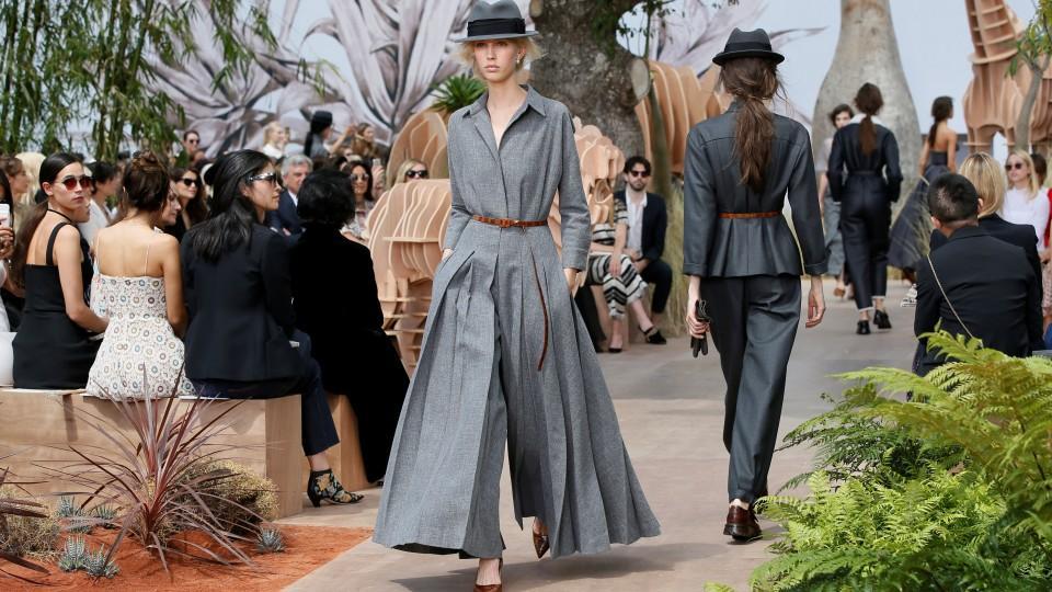 Models present creations by Italian designer Maria Grazia Chiuri as part of  her Haute Couture Fall ad8ff11f88d73