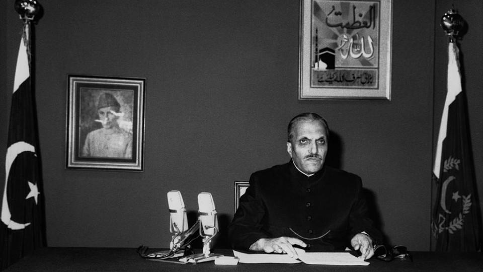 General Muhammad Zia ul Haq adresses the Pakistani nation, on June 15, 1988, two months before he was killed in a plane crash.