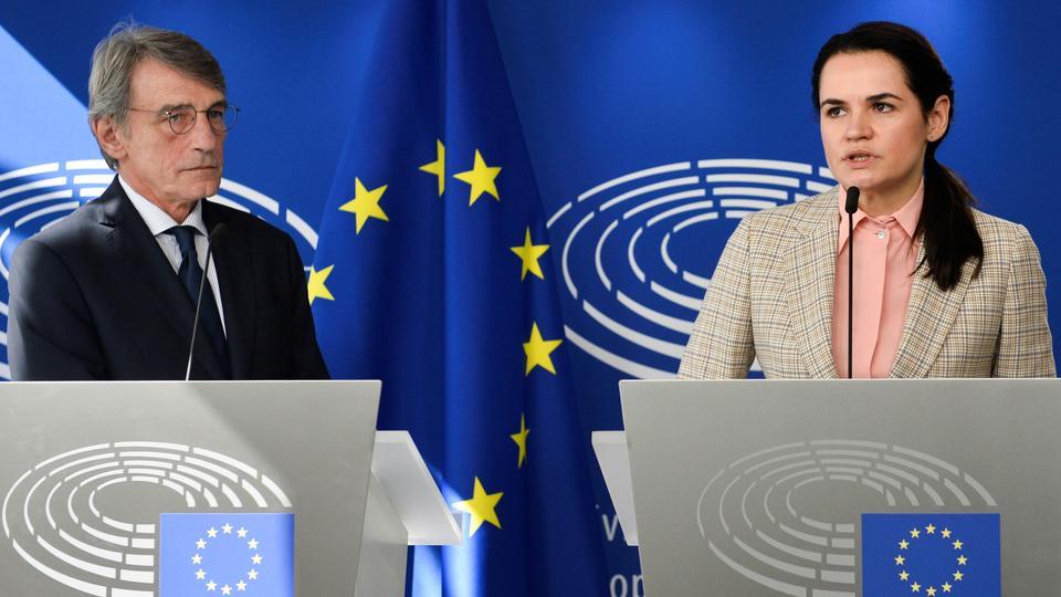EU awards Sakharov prize to Belarus opposition