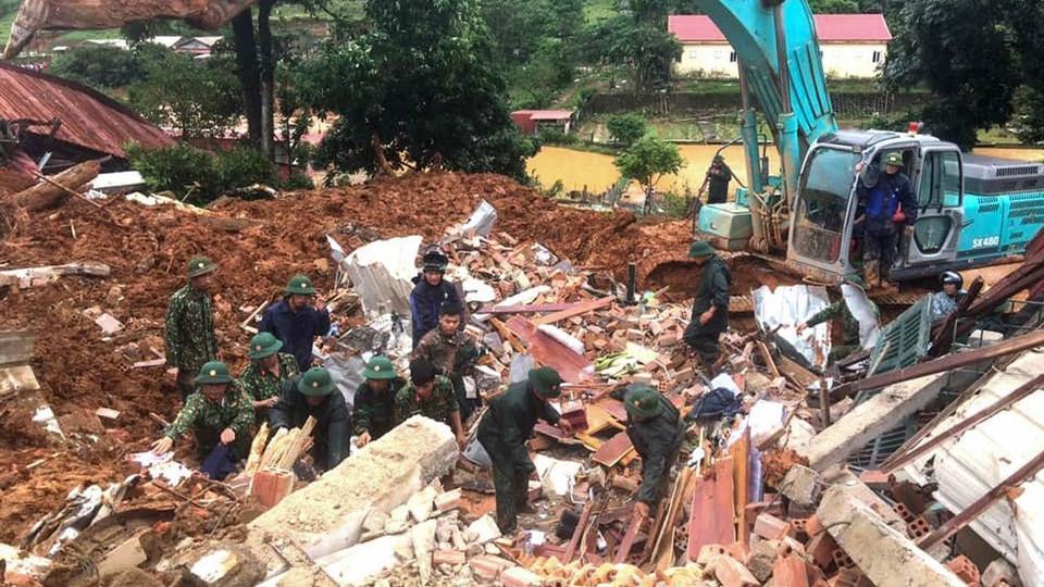 Many missing after landslides hit military barracks in Vietnam
