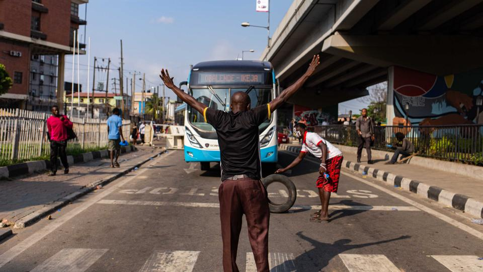Lagos under 24-hour curfew to quell protests against Nigeria's police