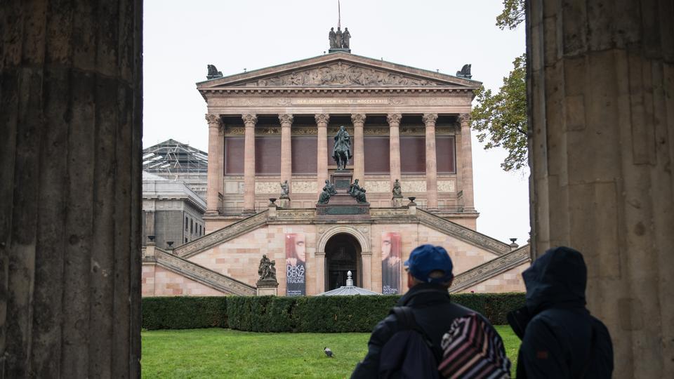 Art on display at Berlin's Museum Island vandalised