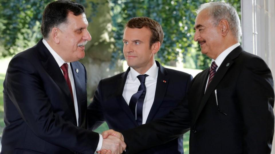 French President Macron Hails Courage Of Rival Libyan Leaders