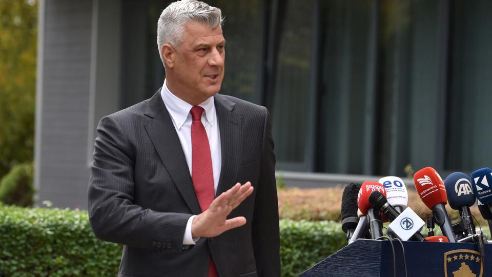 Kosovo's President Hashim Thaci in Pristina, Kosovo, November 5, 2020.