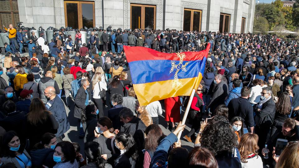 Protesters in Armenia demand Pashinyan's resignation over Karabakh deal