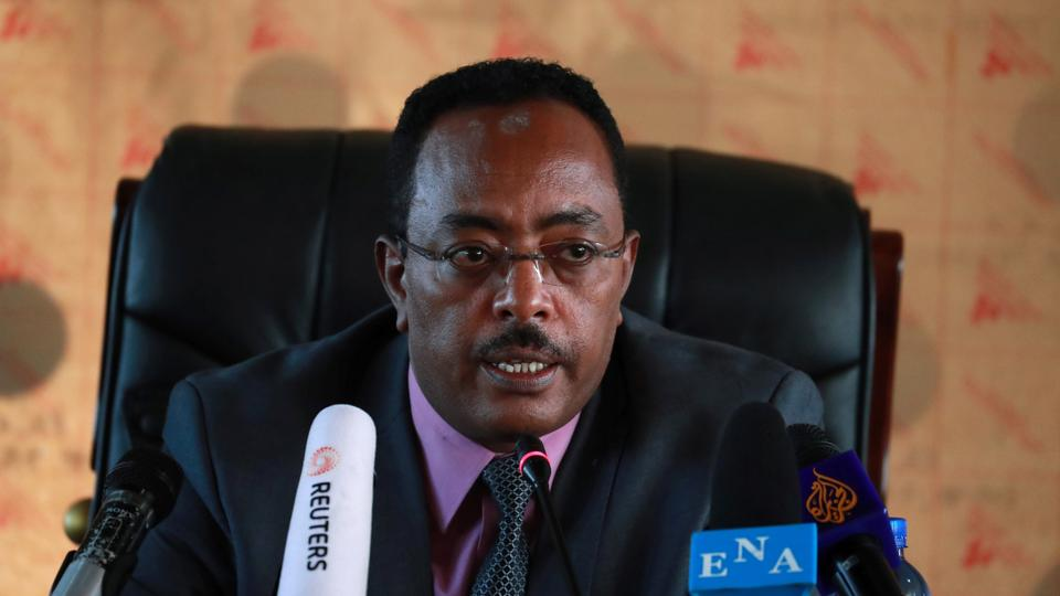 Ethiopia's Redwan Hussein, spokesperson for the newly established state-of-emergency task force and State Minister for Foreign Affairs, November 23, 2020.