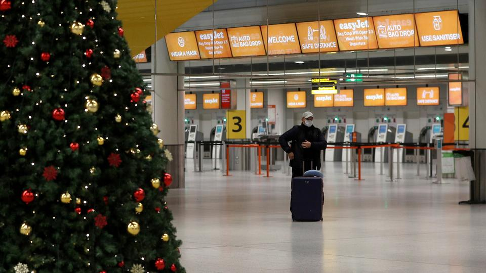 An almost empty Gatwick Airport in Crawley, Britain on November 27, 2020.