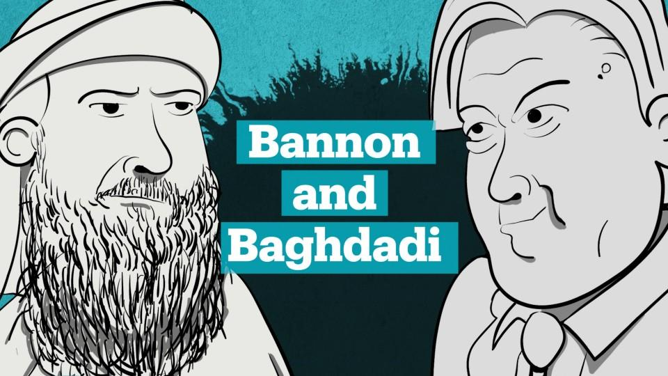 Steve Bannon and Abu Bakr al Baghdadi share similar worldviews when it comes to the future.